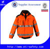 EN471 3 IN 1 Hi Vis 3Mwater proof reflective jacket parka 2 in 1 safety jacket