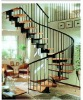 stainless steel wood spiral stair