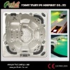 New arriveal Amber outdoor spa hottub with LED light jets