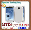 "2012 IN STOCK MTK6577 I9300+ phone Android 4.1.1 OS 5.3"" GPS real 8MP 4GB+512MB free 3D games + gifts free shipping"