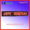 Wholesale product! 1.8inch 10digits time temperature led clock