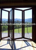 UPVC four-sash garden folding door