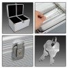 300 L DISC CD DVD EBOX ALUMINUM CASE STORAGE