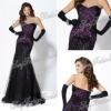 Sweetheart with beaded A-line Anke length ruffle natural waist Net/Tulle evening dress fashion dresses made in china 2012