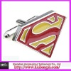 stainless steel superman cufflinks