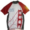 100%polyester dry fit cycling jersey with sublimation printing