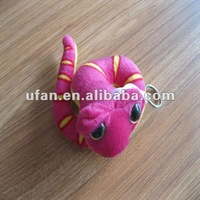 plush snake stuffed animal with keychain