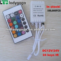 2012 IR 24 keys controller for RGB led strip light with remote
