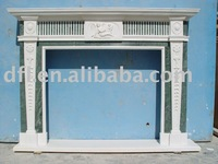 White Marble fireplace (Mix color)