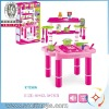 toys kitchen play set with light and music,kitchen table toys