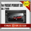 Car radio dvd cd gps for Passat/Peugeot 307 AL-7109