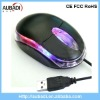 Wired Light Up Transparent Fancy Computer Mouse