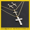 Cross necklace pendant with rhinestone