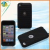 MP3 Hard Skin for Ipod Touch4 PC+Silicone Combo Mesh Design Case