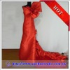 2012 Hot Red Custom Made Chinese Red Wedding Dress with A Big Bow Corset YBWD-1314