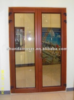 Moser wood door with aluminum cladding, Exterior double door, entry door