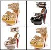 Wholesale cheap platform latest high heel shoes for girls