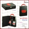 New PU leather wine gift box for 2 bottles