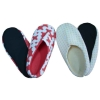 cotton printed lady's Indoor slipper with pvc anti-slip