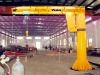 HF warehorse use fixed slewing jib crane with electric chain hoist