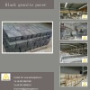 Chinese black granite block paver