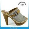 pretty women wood heel slippers