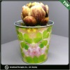flower pots with printing