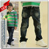 OEM Fashion Style Winter Items High Quality 100% Cotton Kids Jeans