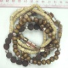 2011 SPRING Fashion Jewelry-bracelet with shell, wood & heishe