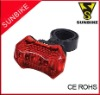 3 super bright led bicycle tail light
