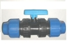 PLASTIC BALL VALVE WITH COMPRESSION NUT