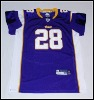 KIDS Vikings #28 peterson purple color jersey