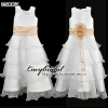 popular taffeta  flower girls dress FS0007