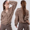 women's shirt/ladies' long sleeve shirt/loosen style shirt