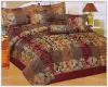 7 pcs jacquard comforter set bedding set