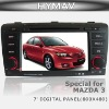 "MAZDA 3 DVD PLAYER WITH GPS SYSTEM, 7""HD DIGITAL PANEL(800*480) PICTURES IN PICTURES, CANBUS, STEERING WHEEL CONTROL, DUALZONE."