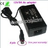 12V/9A 96W power supply for LCD, 12V/9A ac adapter for monitor,  96W switching power supply
