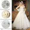 S612 Elegant Lace Beaded Applique Wedding Dress 2012 Real