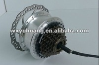 16 to 28 inch electric bike BLDC hub motor (6-8speed &disc brake)