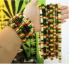 dreadlocks rasta necklace bracelet set jamaican reggae design