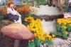 High Quality Garden Decoration Resin Mushroom Shaped Waterproof Speaker