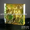 Square Crystal Wall Tile with Sunflower Embossment
