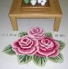 polyester rose rug cotton carpet anti slip