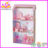 Hot selling Wooden doll house with doll house funiture in a factory price