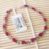 white gold genuine gemstone ruby bracelet 00107839