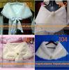 Whole sale retail White or Ivory faux fur shrug