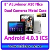 android 4.0 tablet pc 1.5GHz Boxchip A10 full screen ICS 8inch (815)