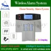 LCD Display Auto Dial Intelligent wireless Home GSM alarm system