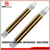 energy saving gold plated short wave infrared quartz glass heaters