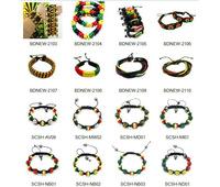 dreadlocks rasta bracelet set jamaican reggae bracelet